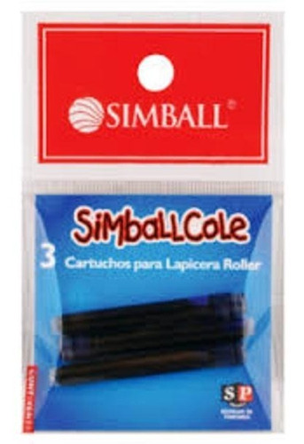 cartucho simball cole borrable blister x3