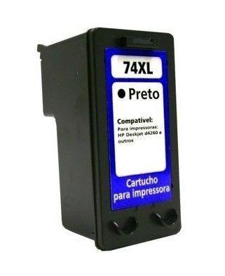 cartucho tinta compatível hp 74xl cb336wb d4260 c4280 c4380