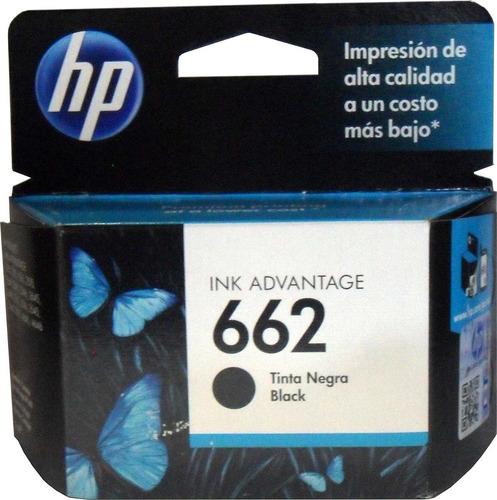 cartucho tinta hp 662 negro cz103al original