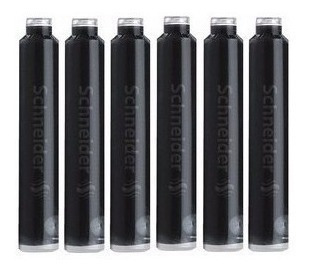 cartucho tinta lapicera pluma negro x 6 made in germany