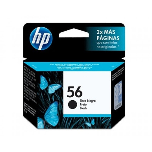 cartucho tinta negra hp 56 (19.5 ml) (gadroves)