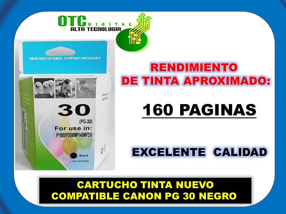 Cartucho Tinta Nuevo Compatible Canon Pg 30 Negro 300