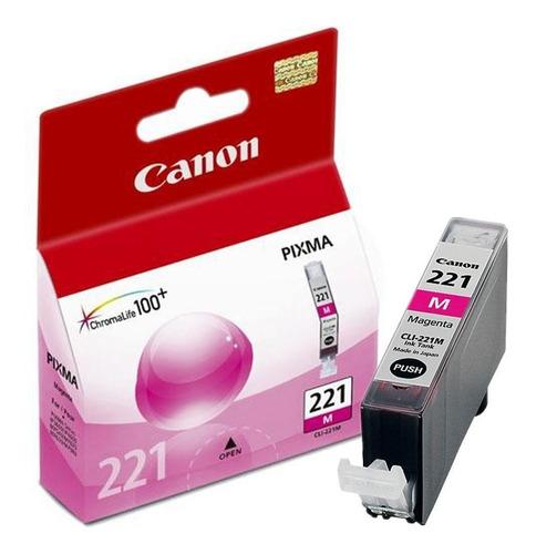 cartucho tinta original canon cli-221 pixma magenta nuevo!!!