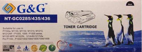 cartucho toner alternativo 285a 435a 436a 85a hp 1102w 1102