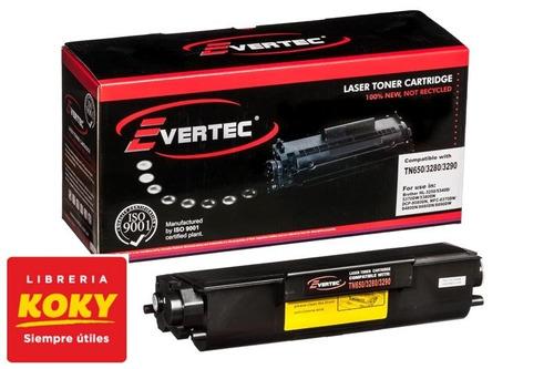 cartucho toner alternativo evertec p/impr brother 650