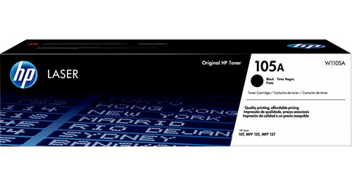 cartucho tóner láser original hp 105a negro w1105a