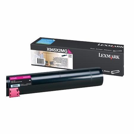 cartucho tóner original lexmark x945x2mg magenta 22000 pág.