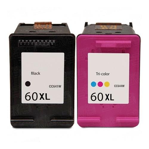 cartuchos 60xlpreto + color + kit recarga f4280-4480-d110