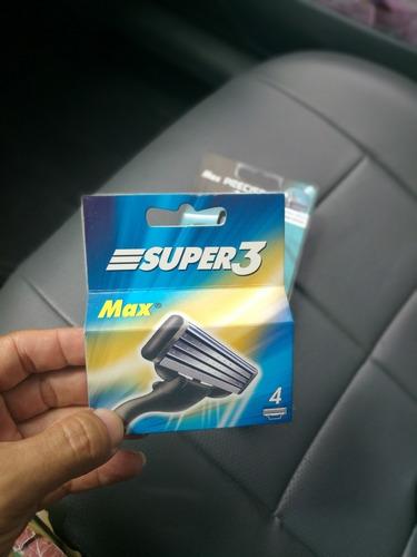 cartuchos afeitadora match 3 (max 3) repuesto máquina  aaa