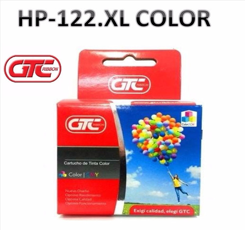 cartuchos alternativo hp 122.xl color  gtc tamaño grande