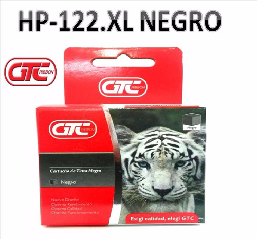 cartuchos alternativo hp 122.xl negro gtc tamaño grande