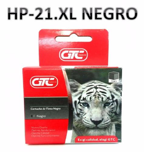 cartuchos alternativo hp 21.xl gtc tamaño grande
