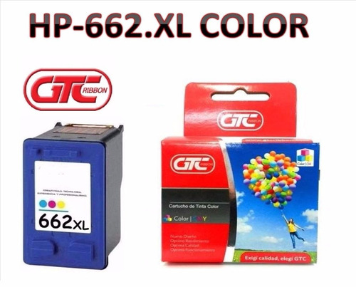 cartuchos alternativo hp 662.xl gtc color tamaño grande