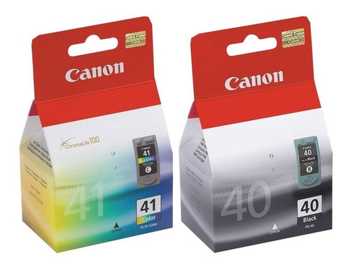 cartuchos canon 40 + 41 ip2600 1700 1800 1900 pack backup
