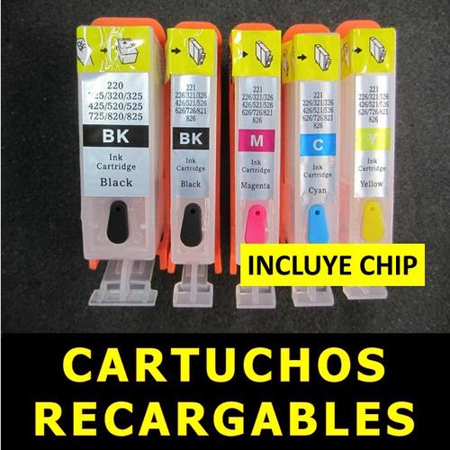 cartuchos canon recargables ip4200 ip4300 mp510 mp530 mp830