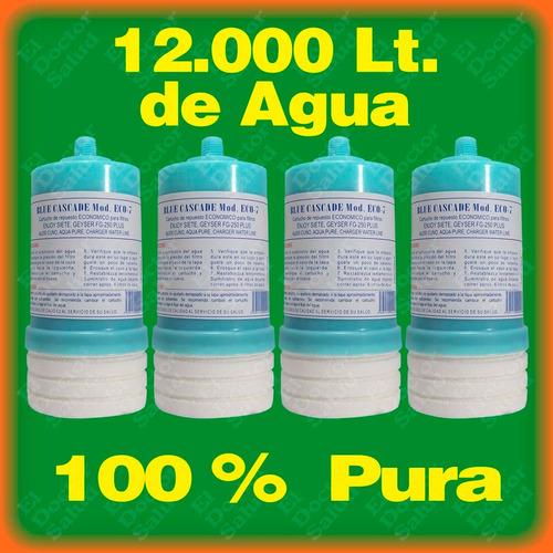 cartuchos carbón combo 4 eco7 - filtros agua - plantas ozono