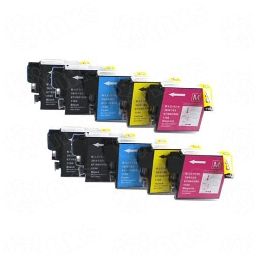 cartuchos compatibles lc61 x 4 brother dcp 165 mfc-250/290