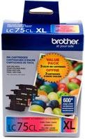 cartuchos de tinta brother lc753pks xl cian/magenta/amarillo