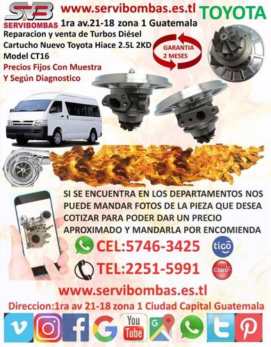 cartuchos de turbo toyota hiace 3.0l 1kz-t ct12b guatemala