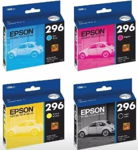 cartuchos epson 296 original xp231 431 241 2 negro y 3 color