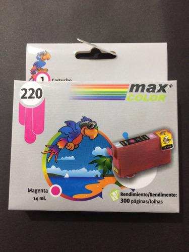 cartuchos epson xp220,compatibles,triple carga, 4 colores