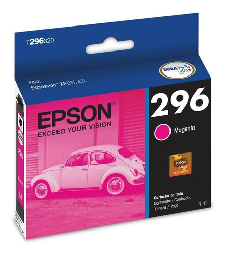 cartuchos epson xp231 xp241 t296 originales pack x4 backup