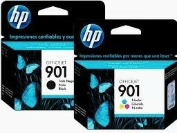 cartuchos hp 100% nuevos 901 negro y color