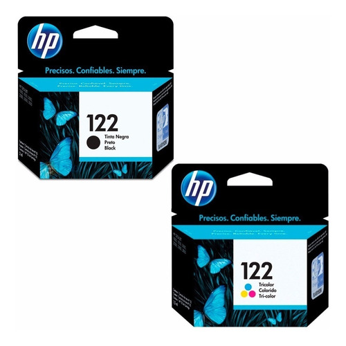 cartuchos hp 122 negro y color garantizados