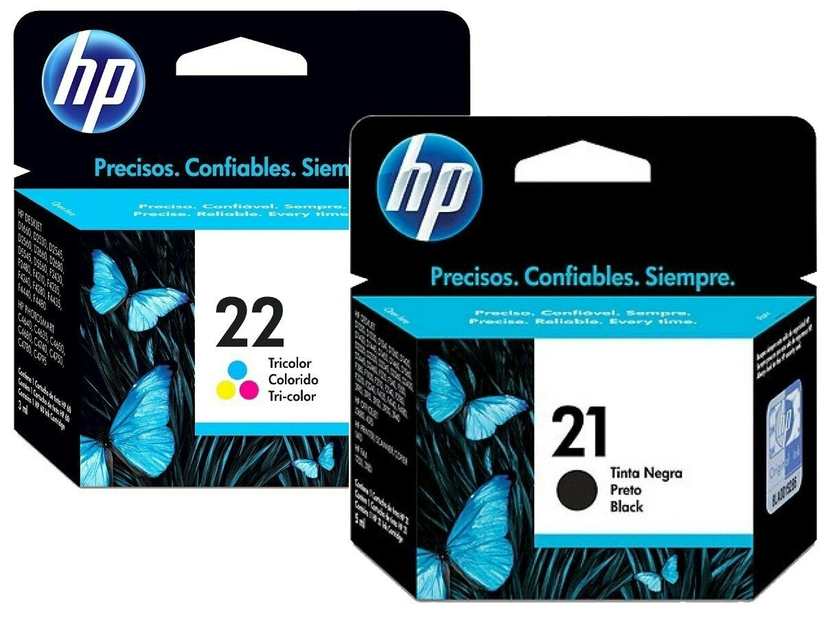 Cartuchos Hp 21, 22 - Bs. 3.500.000,00 en Mercado Libre