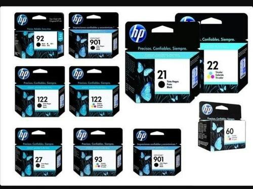 cartuchos hp  21 y 22 100% sellados ygarantizados precio c/u