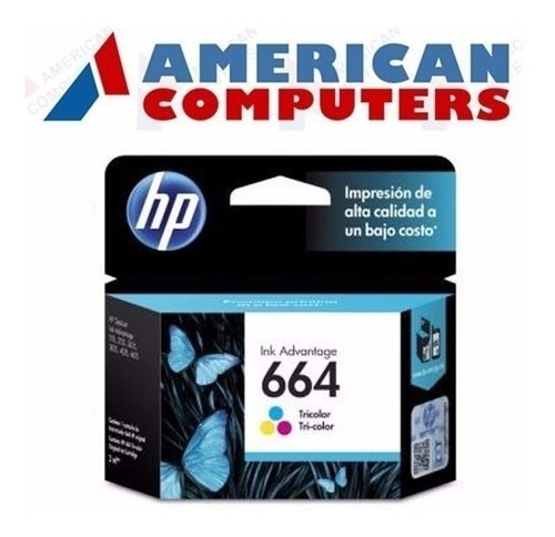 cartuchos hp 664 negro o color 2675 2135 3635 4535 4675 orig