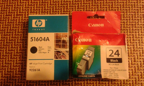 cartuchos hp inkjet print cartridge y canon