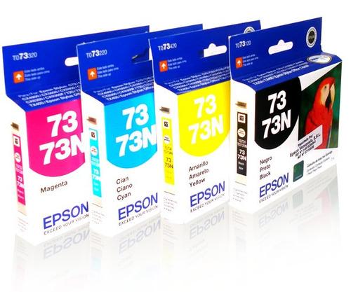 cartuchos originales epson 73 para impresoras cx3900 c92