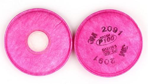 cartuchos para mascara respiratoria 3m 2091 partículas finas