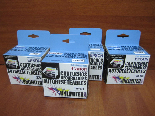 cartuchos plotter recargables hp10 y 11 hp110, 111