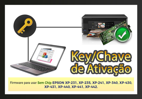 cartuchos recarregaveis para epson xp231 xp241 c/ chave