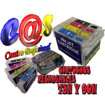 Cartuchos Recargables Compatibles 73n Y 90n Vacio