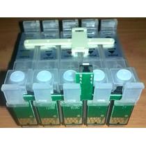 Pack 5 Cartuchos Recargables Autoreset T30 C110 Epson Vacios
