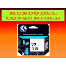 Cartucho Hp 22 Color Original 100% Garantizado Somos Tienda