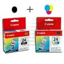 Cartuchos Canon Bci 24 Col Y Neg Combo Orig. Iva-fact-tifis