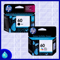 Combo Cartuchos Hp 60 Cc640wl Cc643wl Negro Color Originales