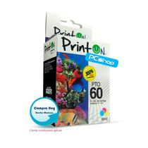 Cartucho Compatible Hp 60 Printon Tricolor 18ml