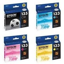 Cartuchos Epson 133 Color Y Negro Originales En Su Caja