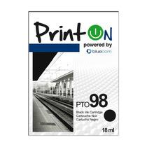 Printon Cartucho Compatible Con Hp #98, Negro C9364wl Pto98