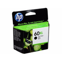 Hp 60 Xl Negro 100% Original Garantizado Por Hp