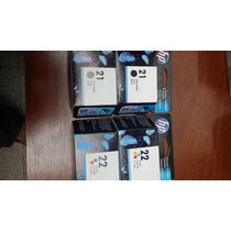 Tintas Hp 21 Y 22 Color Y Negro