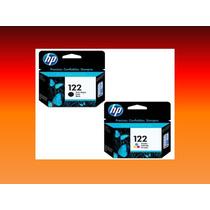 Combo Cartuchos Hp 122 Negro Y Color Originales Garantizados