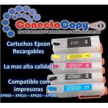 Cartuchos Recargables Epson Para Sistema Xp800-810-820-520