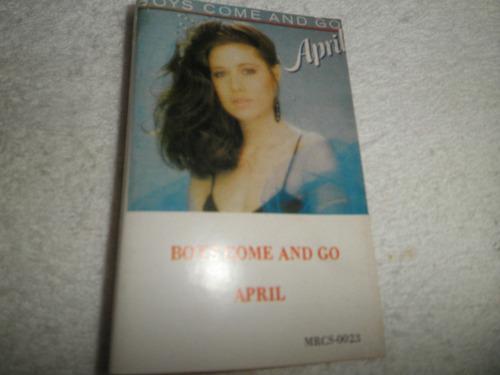 caràtula cassette april - boys come and go (venezuela 1985)
