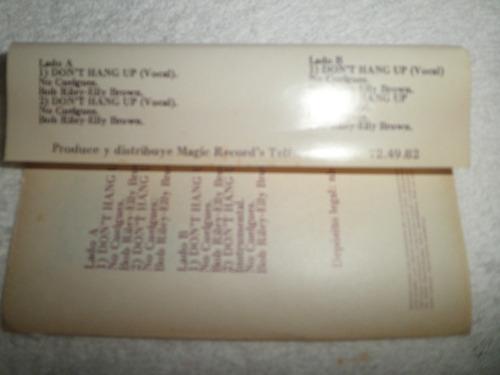 caràtula de cassette remix elly brown - don't hang up (1984)
